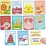 Babykulisse 40 Meilensteinkarten 1. Lebensjahr, Babytagebuch, Gratis E-Book - Ideales Geschenk zur Geburt, Schwangerschaft, Taufe - Meilenstein Babykarten für Mädchen und Jungen als tolle Erinnerung Deutsch