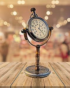 Brass Desk Clock Royal Marine Clocks Nautical Clock Desktop Office Table