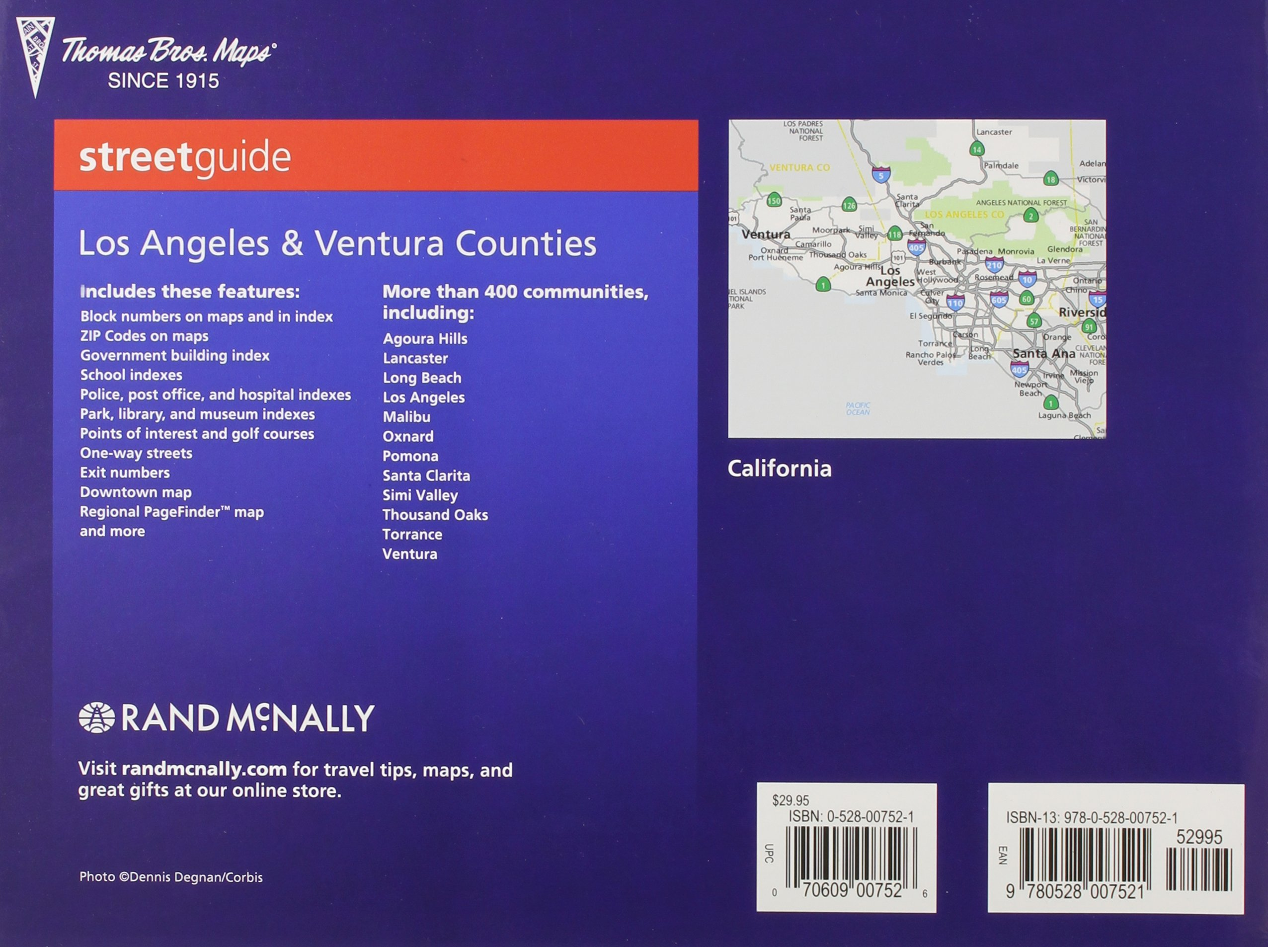 The Thomas Guide Streetguide Los Angeles  Ventura Counties Rand - Los angeles ventura map