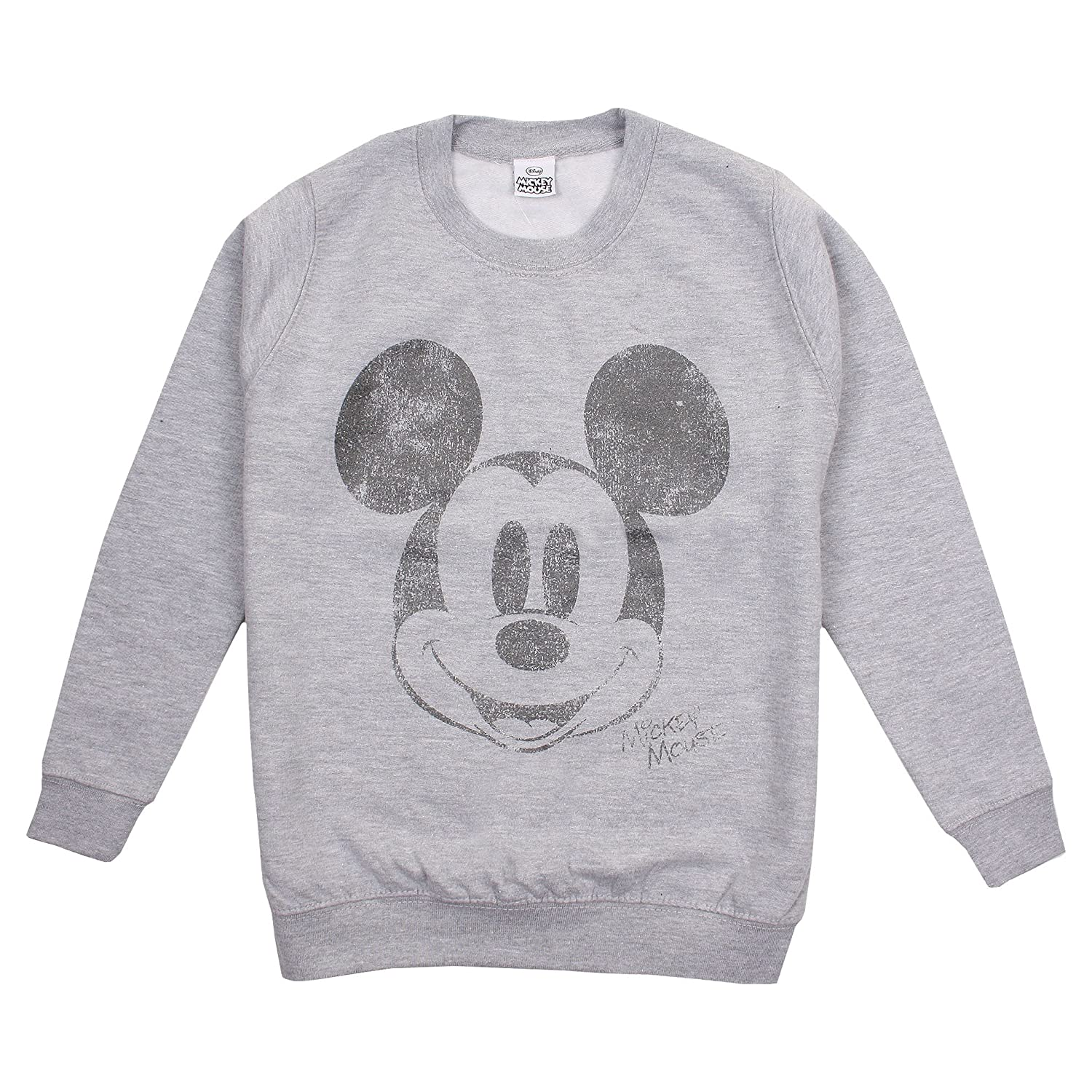 Disney Girl's Mickey Mouse Metallic Face Sweatshirt RBGCS185