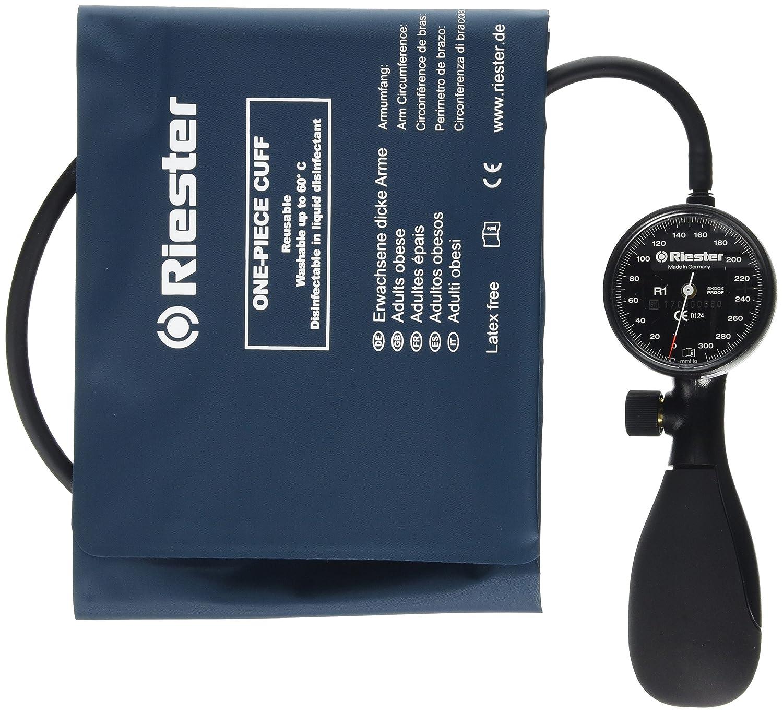 Riester 1250-152 R1 shock-proof, tensiómetro, negro, brazalete desinfectable brazos obesos, 1 tubo: Amazon.es: Industria, empresas y ciencia