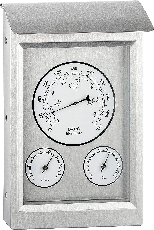 GardenMate Estación meteorológica analógica para Interiores y Exteriores   Barómetro termómetro higrómetro