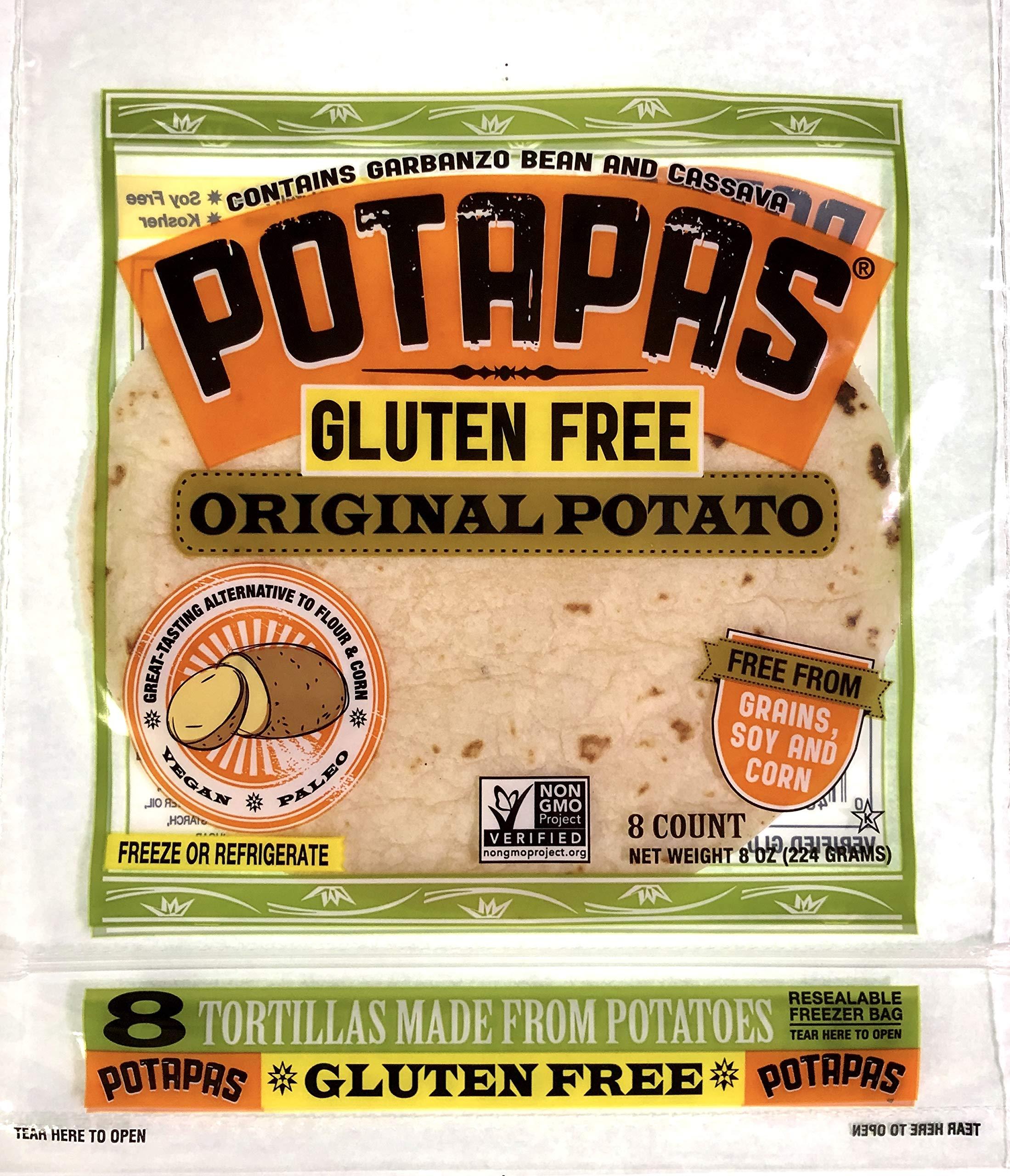 Potapas, Original Potato Tortillas, Gluten Free, 8 Ounce, Case Pack of 12 by Potapas
