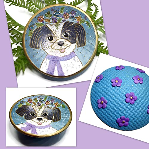 Amazon.com: Dog Ring Dish- Handpainted Jewelry Holder-Ready to Ship ...