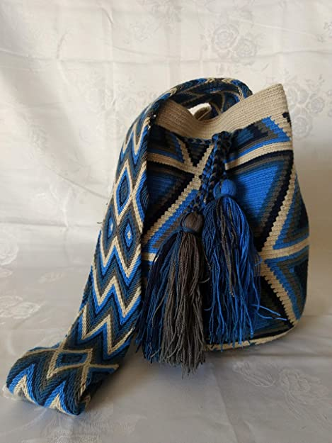 General Bolso Mochila Wayuu Original de Colombia Bolso de viaje Cartera Casual Bolso Autentico: Amazon.es: Zapatos y complementos