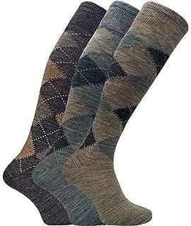 Sock Snob 3 paia uomo lunghi lunghe caldo calzini calze lana in grigio e  marrone 471d106d57e2