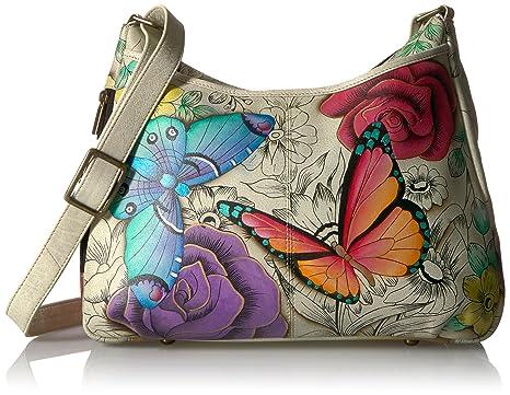 Anna by Anuschka Women s Genuine Leather Medium Hobo Handbag  f2b0c1ed35718