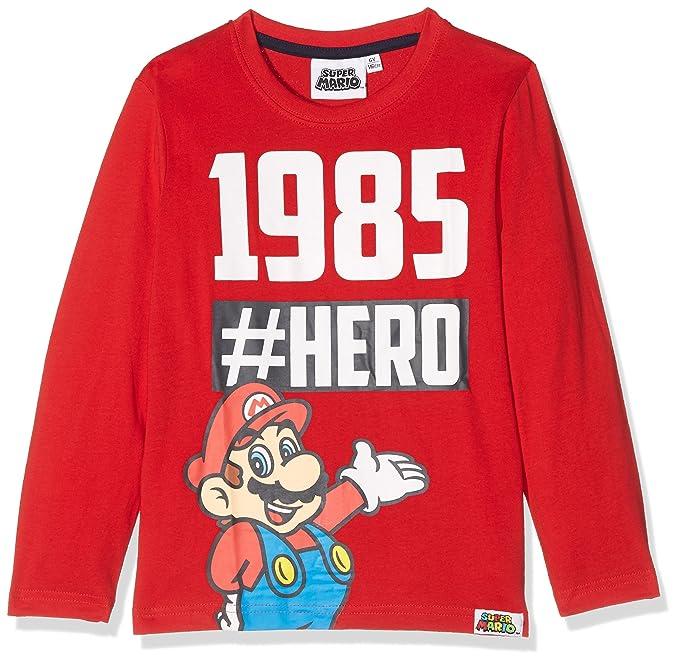 große Auswahl abgeholt näher an Super Mario Jungen Langarmshirt - blau