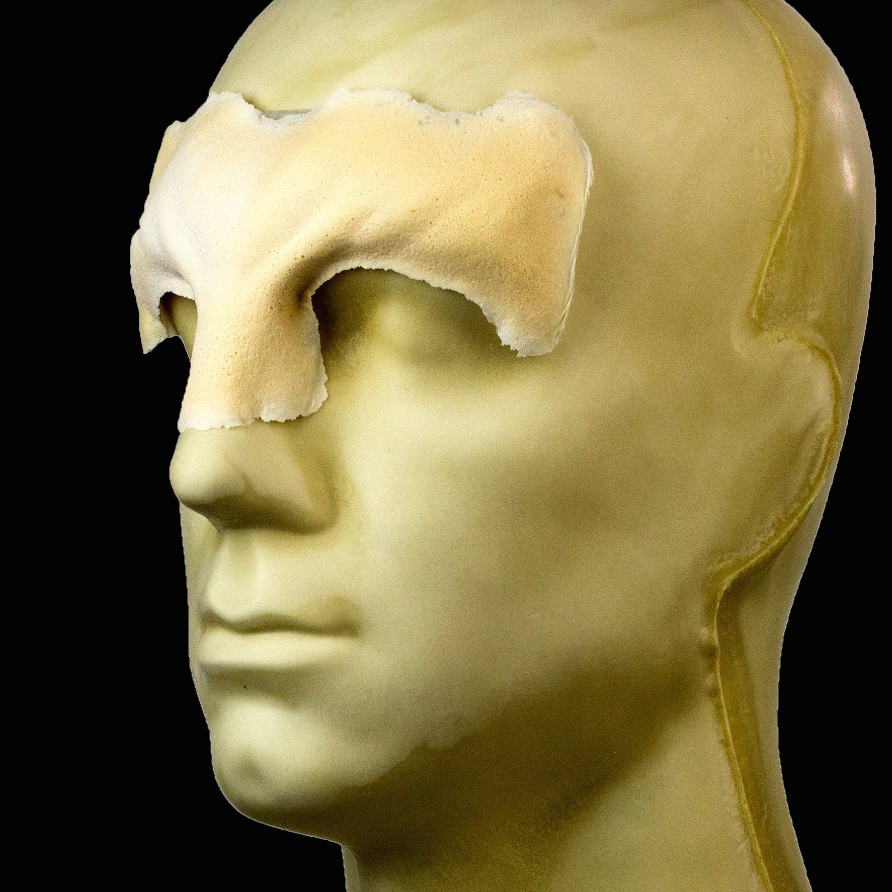 Rubber Wear Foam Latex Prosthetic - Leonine Forehead FRW-084 - Makeup and Theater FX