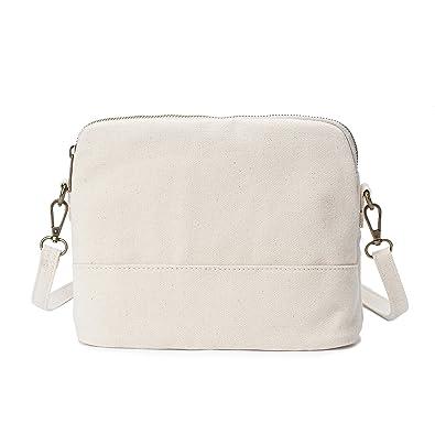 32bba53d11 Amazon.com  Karitco Women Plain Canvas Shoulder Shell Bag Messenger Tote ( Canvas Beige)  Shoes