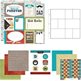 Scrapbook Customs Themed Paper and Stickers Scrapbook Kit, Dad