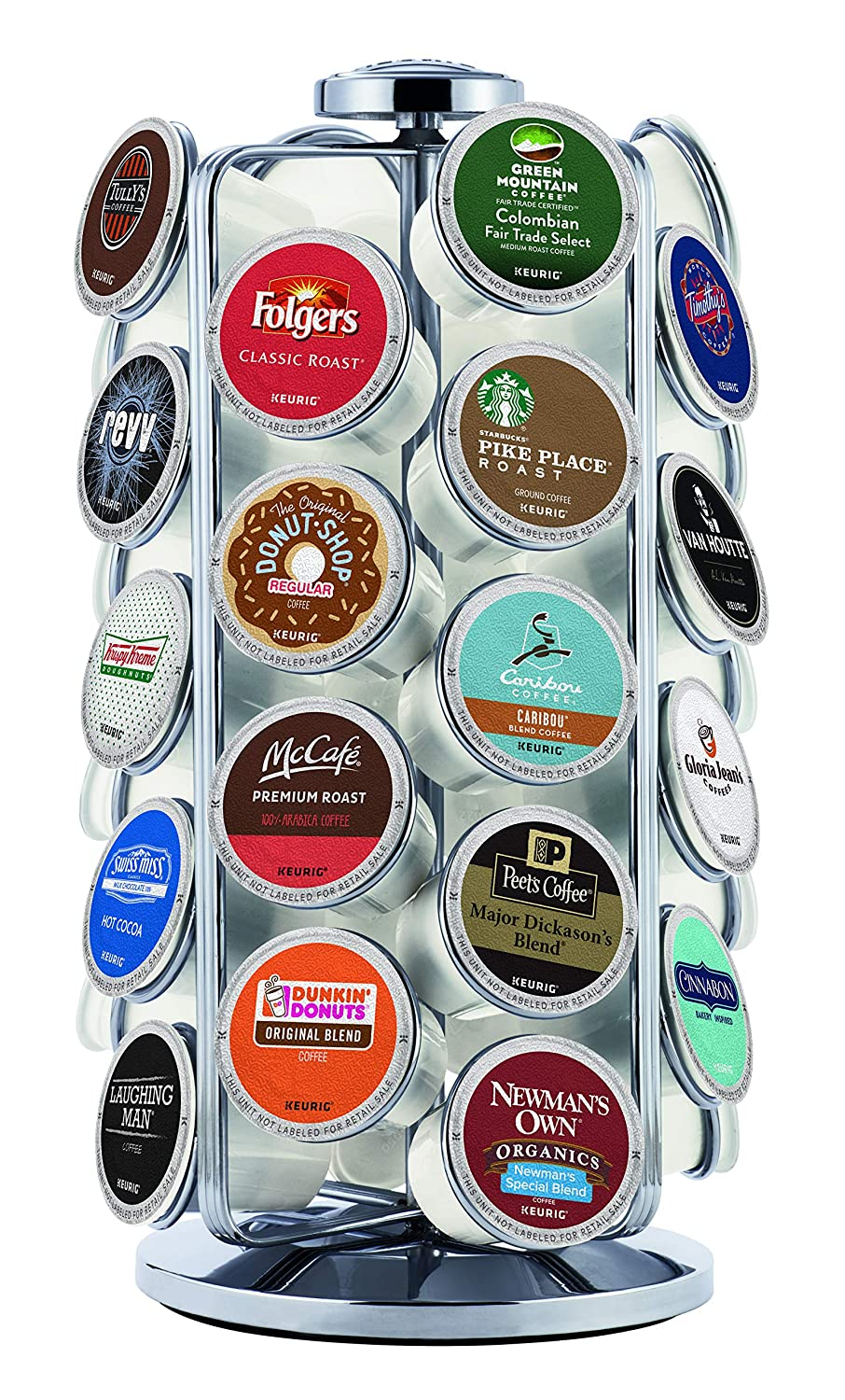 Keurig 5000196801 K-Cup Pod Carousel Coffee Machine Accessory, 36 Count, Chrome