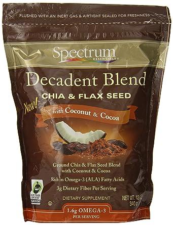 Spectrum Essentials Chia y lino Semillas mezcla Decadent con ...