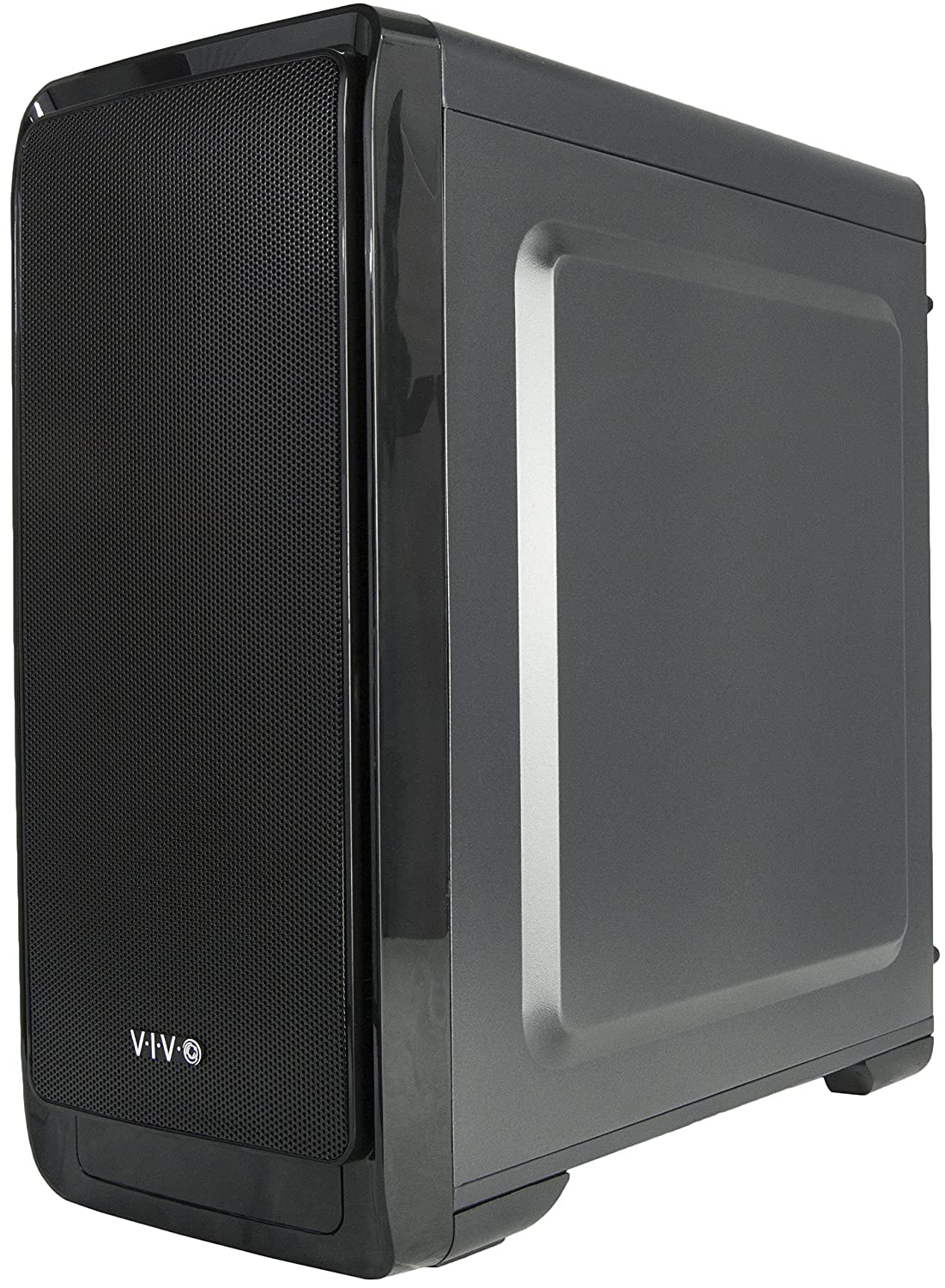 5 Fan Mounts CASE-V06 USB 3.0 Port VIVO Micro-ATXSMART Mid Tower Computer Gaming PC Case Black