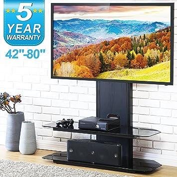fitueyes meuble tv avec support de montage pivotant pour 421778 cm tv