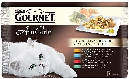Purina Gourmet A La Carte Recetas del Chef Comida Húmeda para Gatos - Paquete de 4