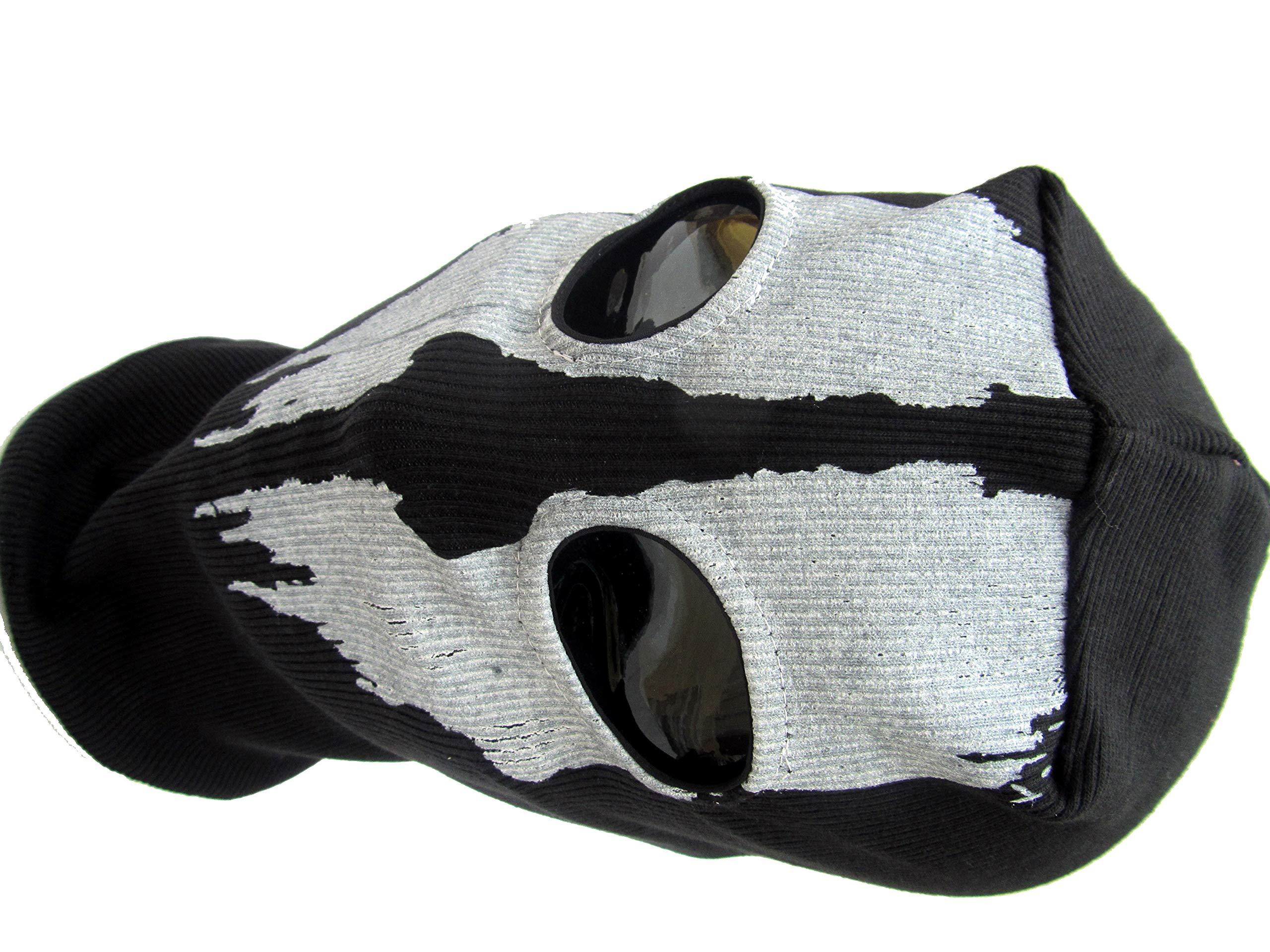 Takashi 2 Hole Balaclava Ghost Skull Face Mask Bike Motorcycle Helmet Hood Ski Sport Neck Face Mask Halloween Horror Ski Motorcycle Biker Scarf Skull Face Mask