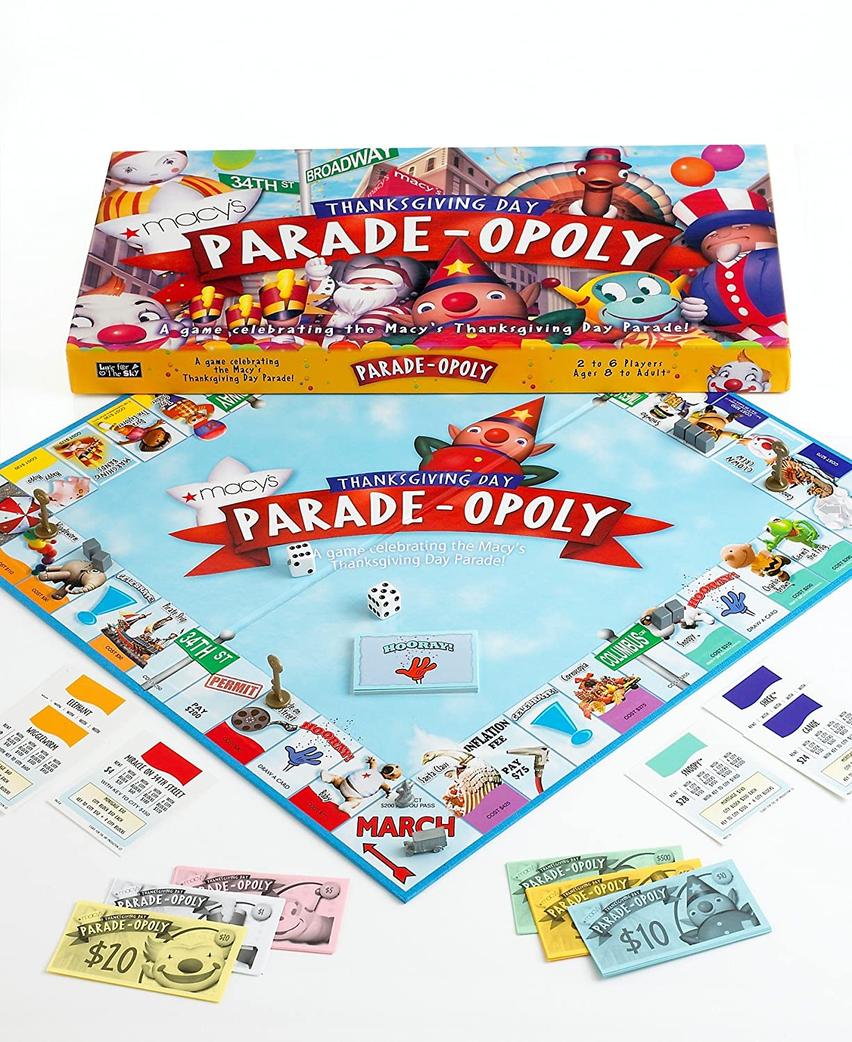 Amazon.com: 2010 Macy\'s Thanksgiving Day Parade-opoly Board Game ...