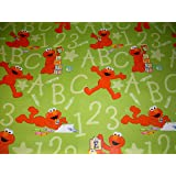 Sesame Street ELMO Gift Wrap ROLL Sheet & Pop-Up Bows - Birthday, Any
