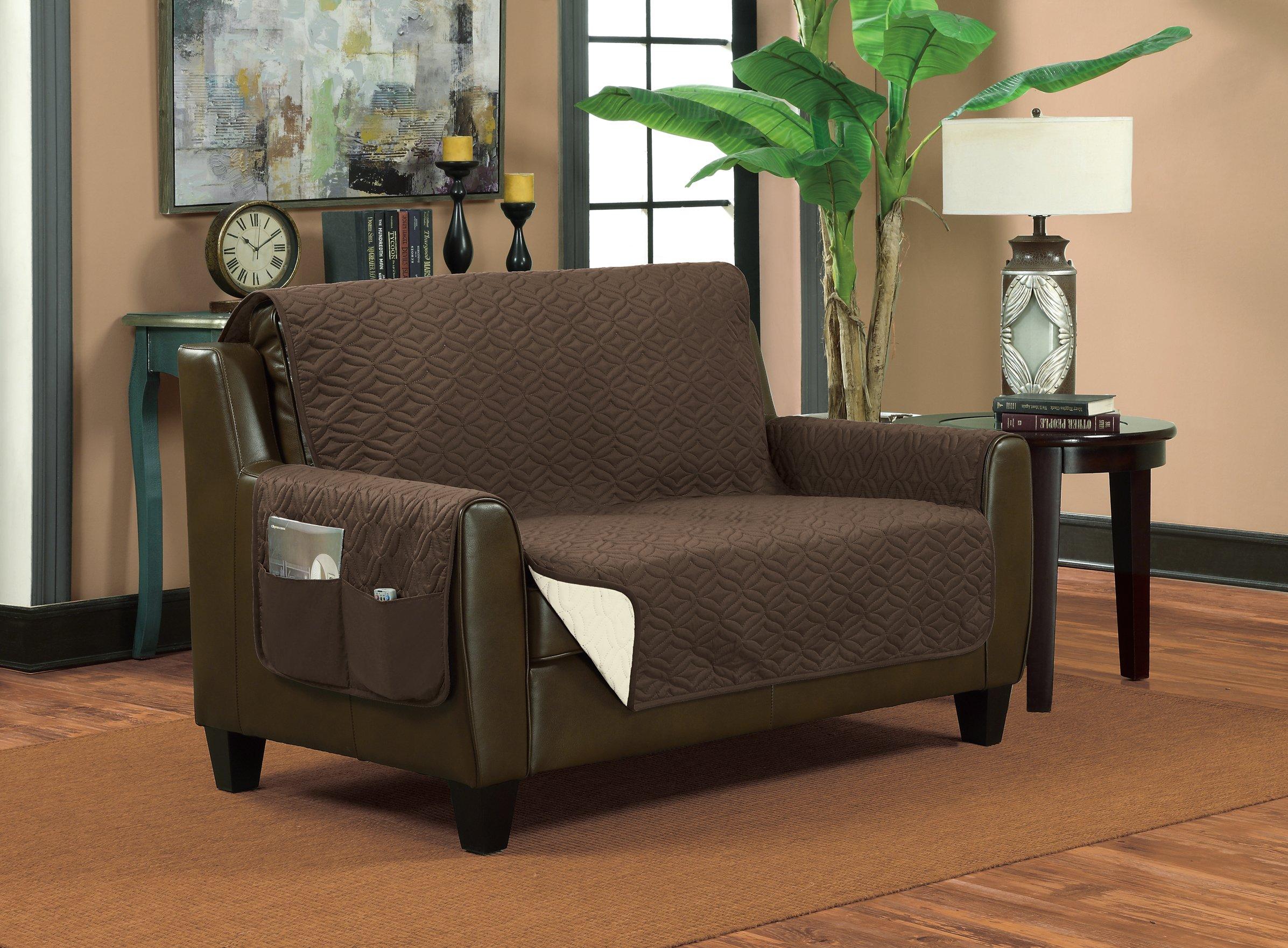 Bella Kline Reversible SOFA Furniture Protector, With 2 Storage Pockets - Mocha / Tan by BELLA KLINE DESIGN (Image #5)