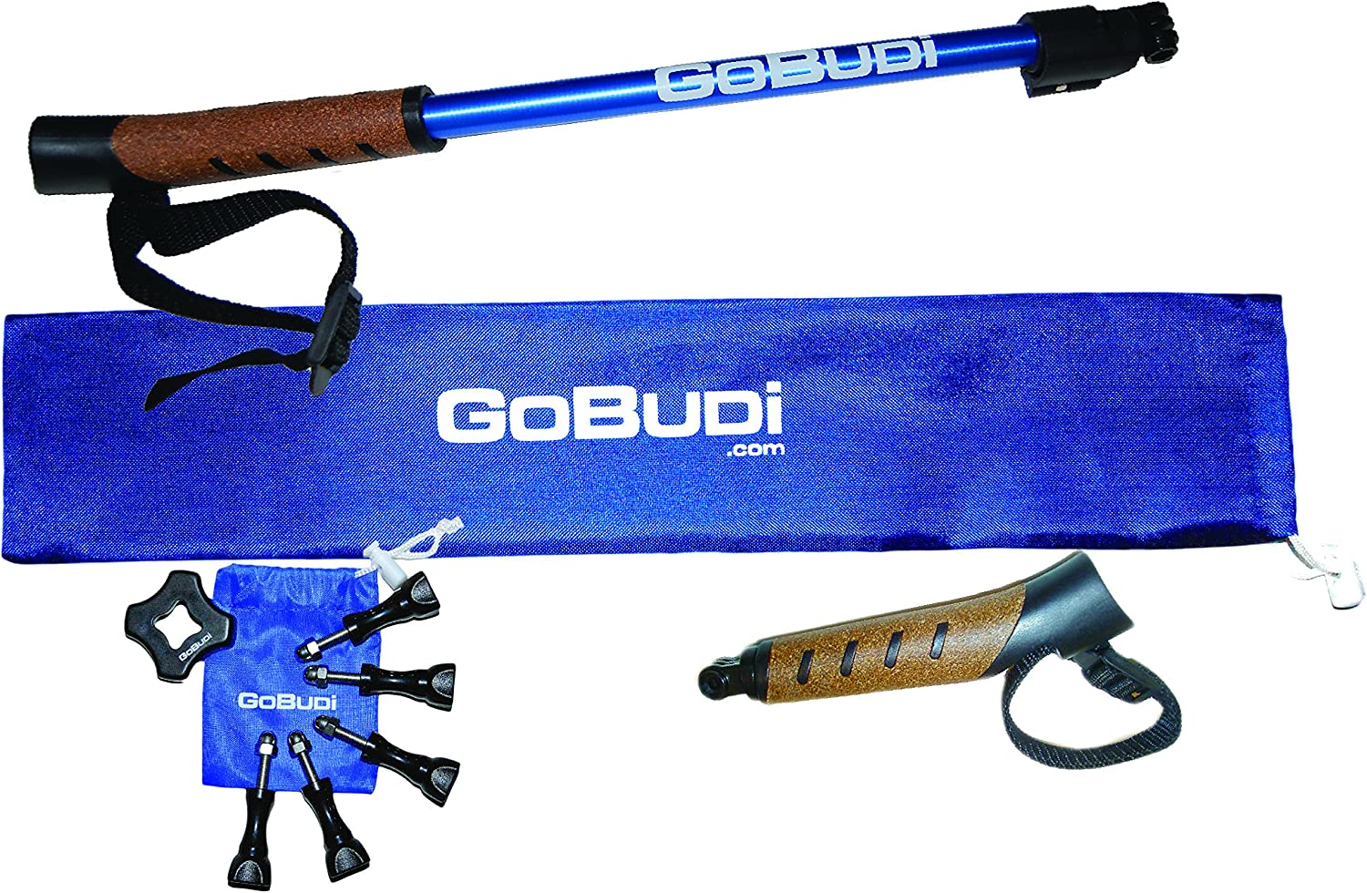 Includes 3 Extensions and Bolts Compatible with All GoPro Hero Cameras GoBUDi Extension Pole Set