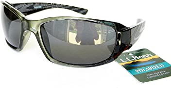 L. L. Bean Mens Polarized Sport Sunglasses (1455) 100% UVA & UVB Protection+ FREE