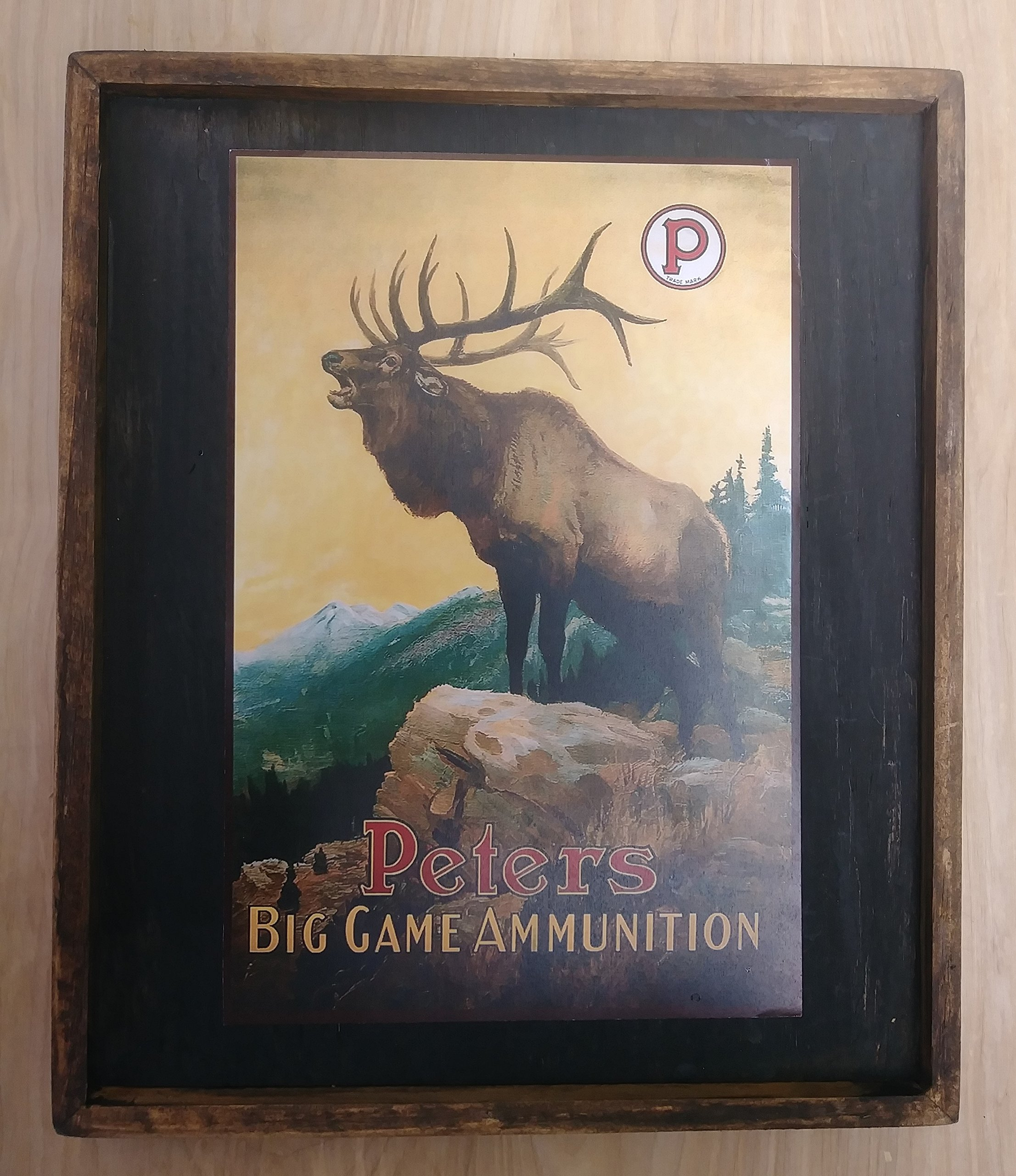 PETERS BIG GAME AMMUNITION - Wooden Sign