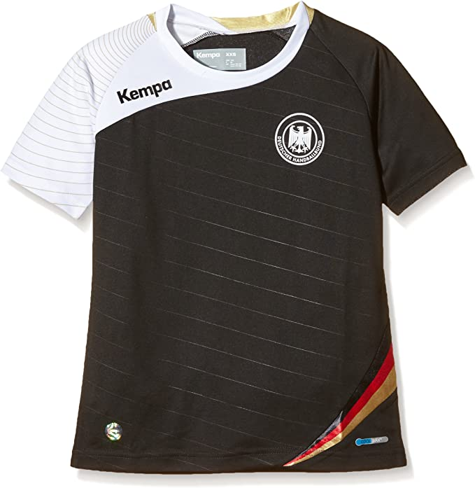 Kempa DHB - Camiseta unisex, multicolor (negro/blanco/dorado), talla XL: Amazon.es: Ropa y accesorios