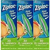Ziploc Sandwich Bags, X-Large, 90 Count