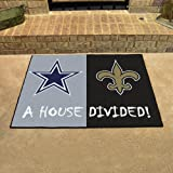 "NFL House Divided - Cowboys/Saints Rug, 34"" x"