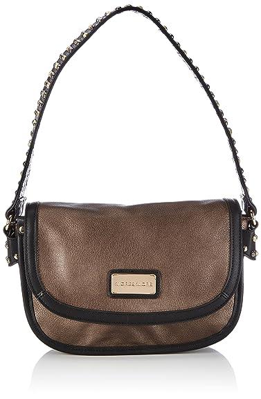 Crystal Handtasche mit Überschlag 50332 8690 M17 Damen Henkeltaschen 27x18x5 cm (B x H x T), Braun (DKL Braun 8690) More & More
