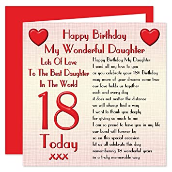 Daughter 18th happy birthday card lots of love to the best daughter 18th happy birthday card lots of love to the best daughter in the world bookmarktalkfo Choice Image
