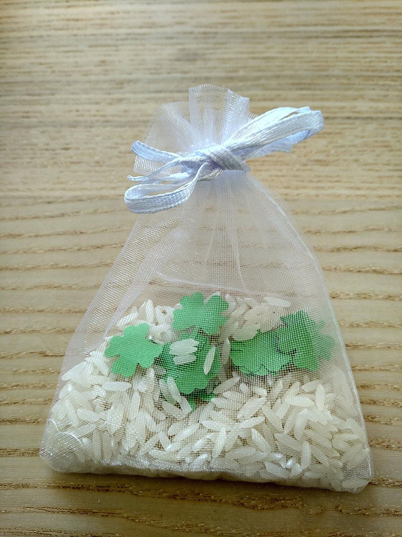 Bolsas de arroz y confeti trébol para boda (Pack de 20 ...