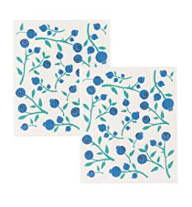 Now Designs Swedish Dishcloth (Set of 2) Blueberries 2 Piece