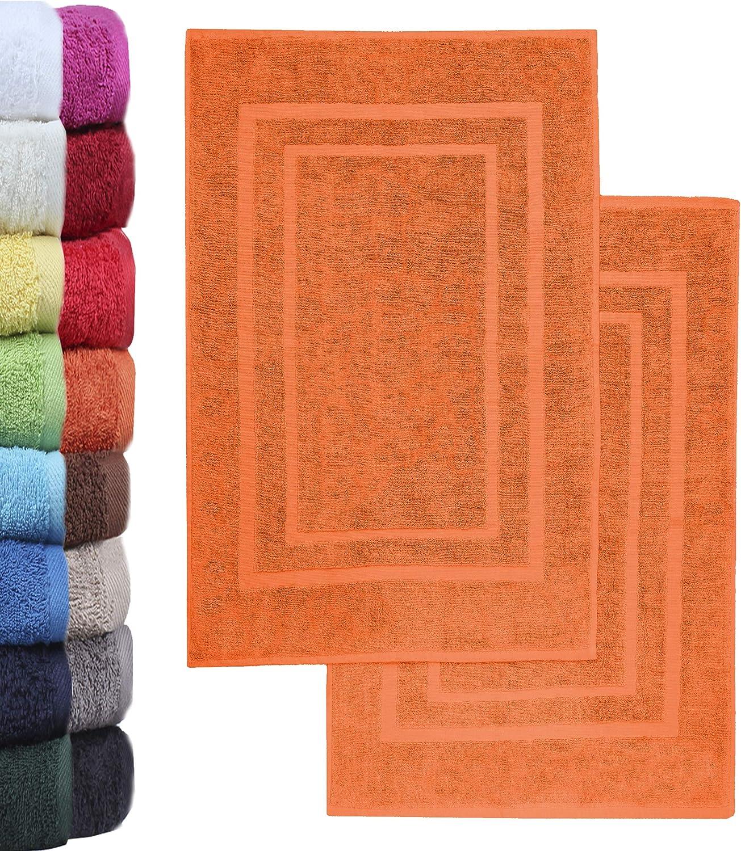 Colore: Rosa Set di 2 tappetini da Bagno in Spugna NatureMark 50 x 80 cm 100/% Cotone