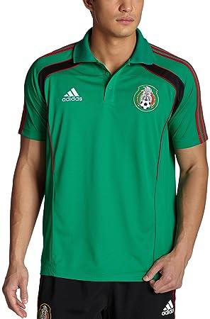 Adidas México fútbol Polo Camisa, Hombre, X, Verde: Amazon.es: Deportes y aire libre