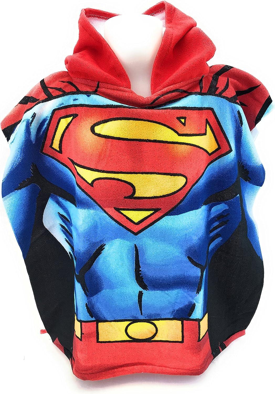 Superman DC Comics Poncho de baño – Capa de baño – Microfibra 100% poliéster – 110 x 55 cm