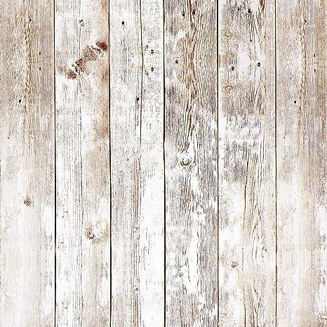 16 4ft Rustic Wood Wallpaper Wood Plank Wallpaper Self Adhesive Wallpaper Removable Wallpaper Shiplap Weathered Reclaimed Distressed Wood Wallpaper