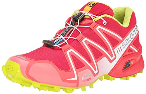 new styles cf6c1 e7a62 Salomon Women s s Speedcross 3 Running Shoes Lotus Pink Papaya-B Gecko Green ,
