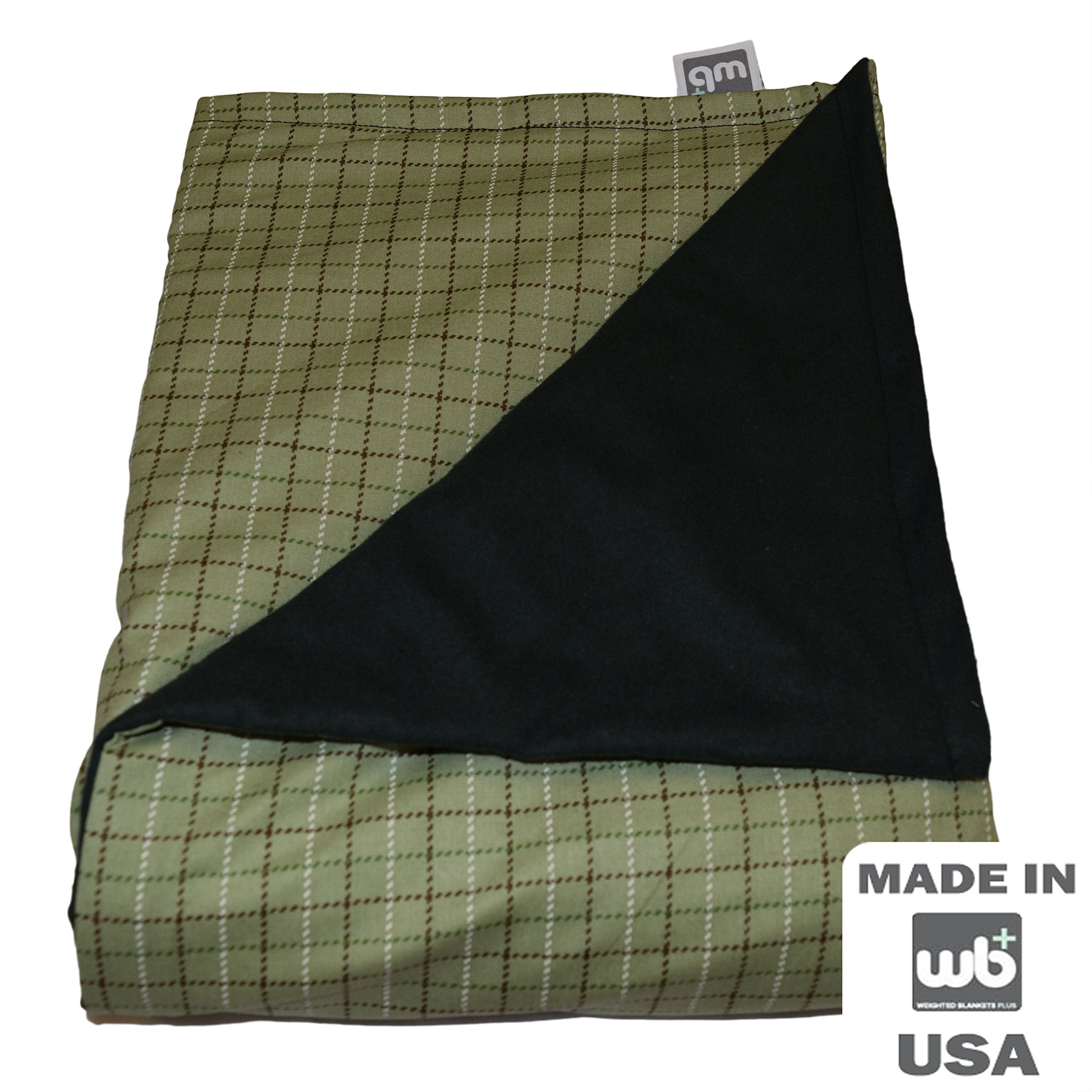 WEIGHTED BLANKETS PLUS LLC - ADULT LARGE WEIGHTED BLANKET - LODGE PLAID - COTTON/FLANNEL (72'' L x 42'' W) 16lb MEDIUM PRESSURE
