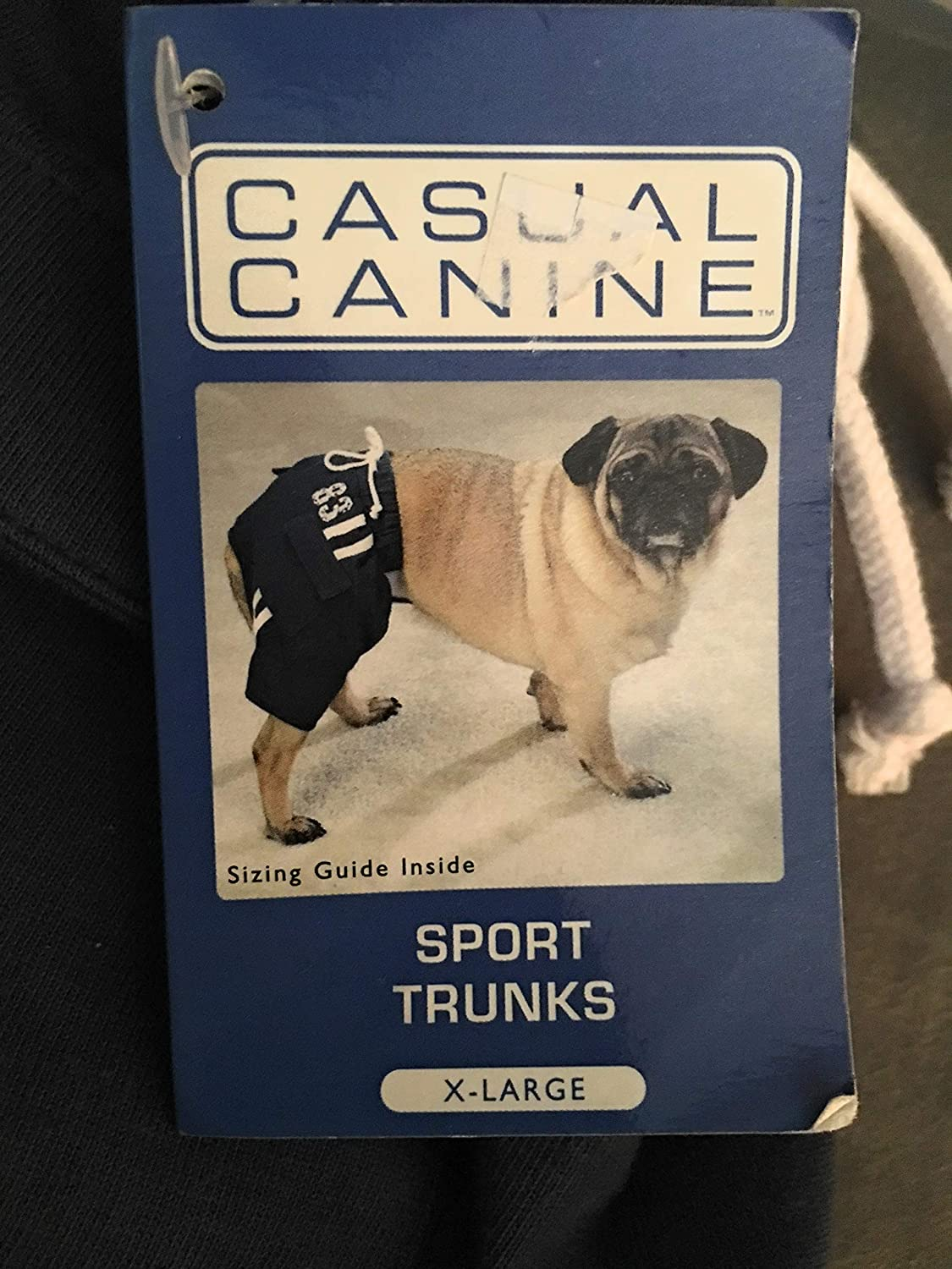 Casual Canine Sport Trunks XLG Navy
