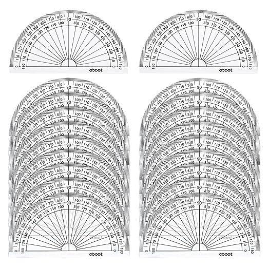 Amazon.com : eBoot 20 Pack Plastic Protractor, 180 Degrees ...