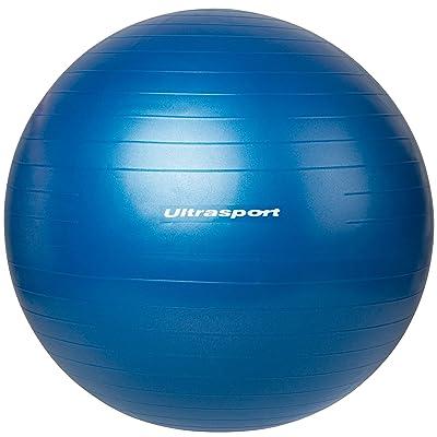 Ultrasport Ballon de gymnastique, peut être utilisé comme siège, pour la gymnastique ou pour le pilates, en matériau robuste, cinq diamètres d'env. 45 cm, 55 cm, 65 cm, 75 cm ou 85 cm, rouge