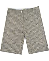 Hurley Catalina Winter White Brown Plaid Men's Shorts
