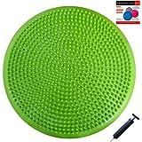 Air Stability Wobble Cushion with Pump, Green, 35cm/14in Diameter, Balance Disc