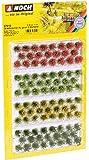 Noch - 07010 - Modélisme Ferroviaire - Touffes D'Herbes Xl - Fleuri - 12 Mm - 92 Pièces