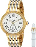 GV2 by Gevril Astor Womens Diamond Swiss Quartz Two Tone Stainless Steel Bracelet Watch, (Model: 9105)