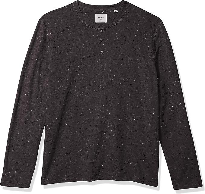 Billy Reid Mens Long Sleeve Mini Waffle Knit Henley