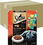 シーバ (Sheba) デュオ 成猫用 鶏ささみ味と海のセレクション 240g(20g×12袋入り)×12個 (ケース販売) [キャットフード・ドライ]