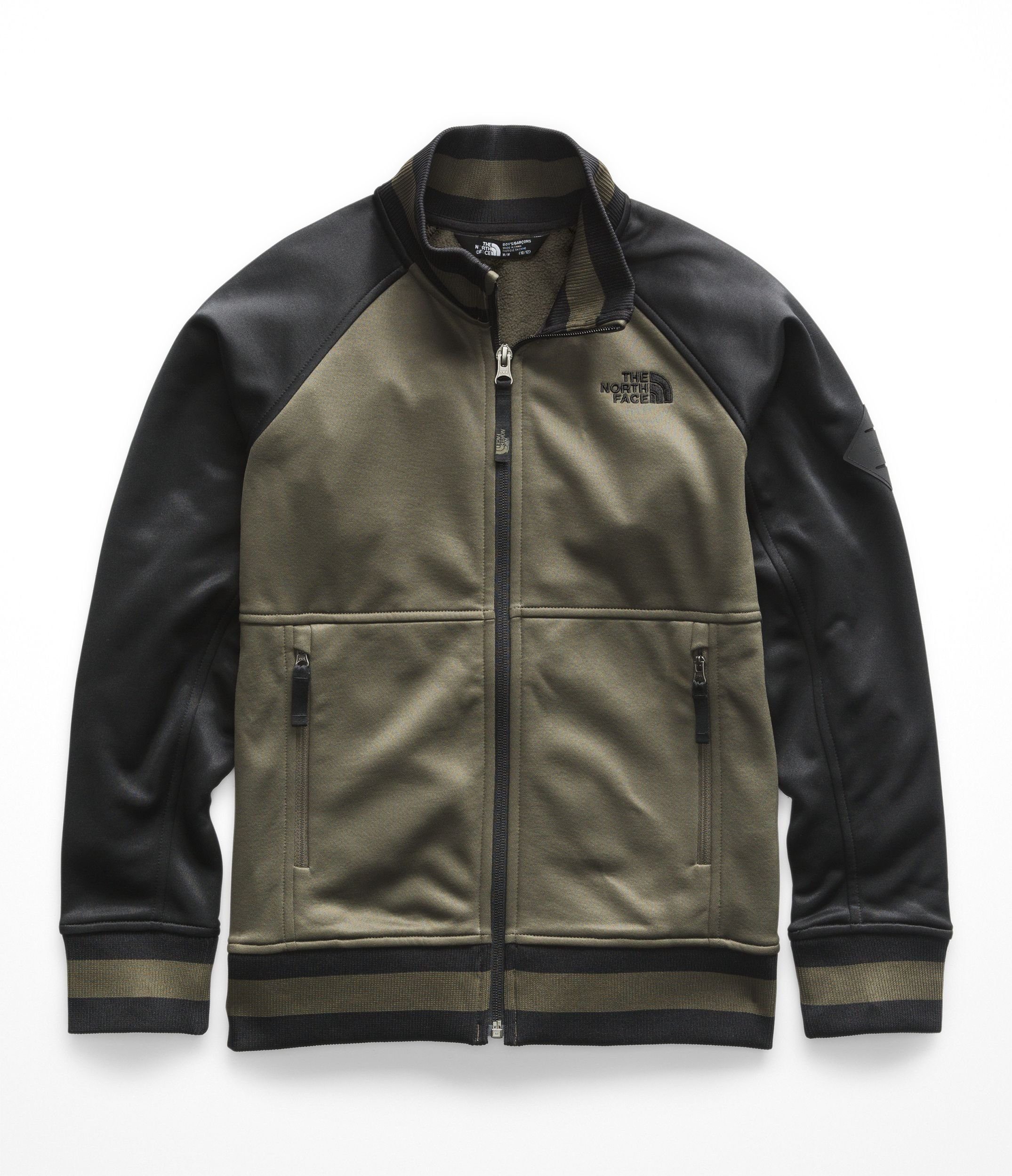 The North Face Boys Takeback Track Jacket - New Taupe Green - L